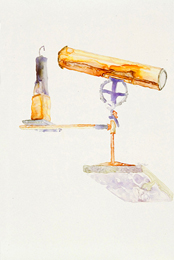 One Candle Power, pre 1850, watercolor on Yupo, 16 x 14 inches