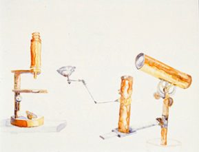 Two reflectors, Watercolor on Yupo, 20 x 30 inches